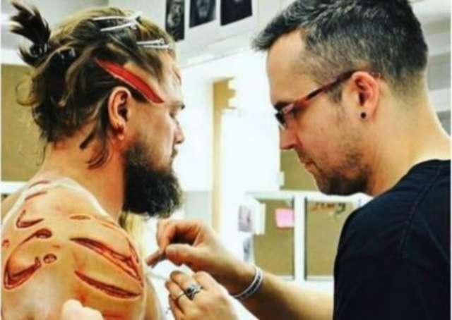Tak wyglądały przygotowania do walki DiCaprio z niedźwiedziem - full image