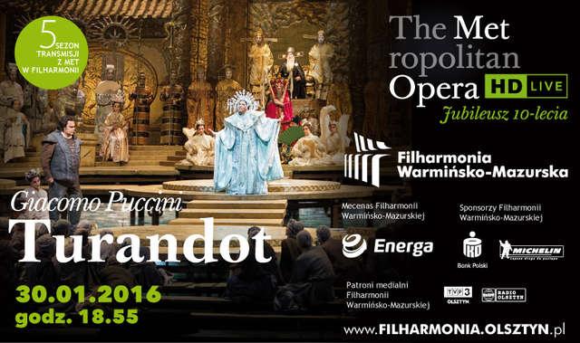 MET LIVE IN HD Giacomo Puccini – Turandot w filharmonii - full image