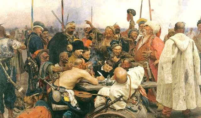 """Obraz Ilji Riepina """"Kozacy piszą list do sułtana"""" - full image"""