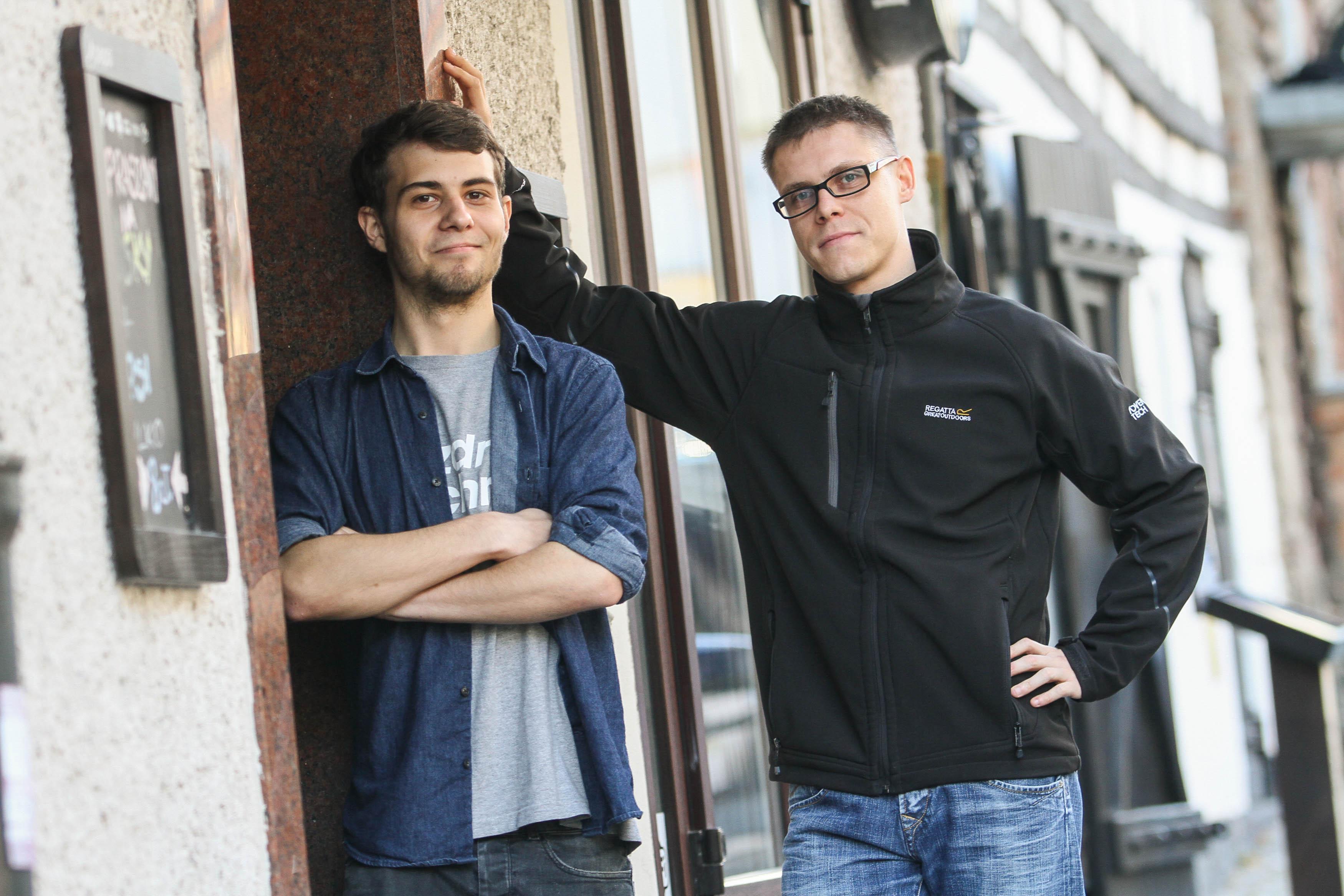 Od lewej: Natan Naguszewski, Łukasz Krasiński