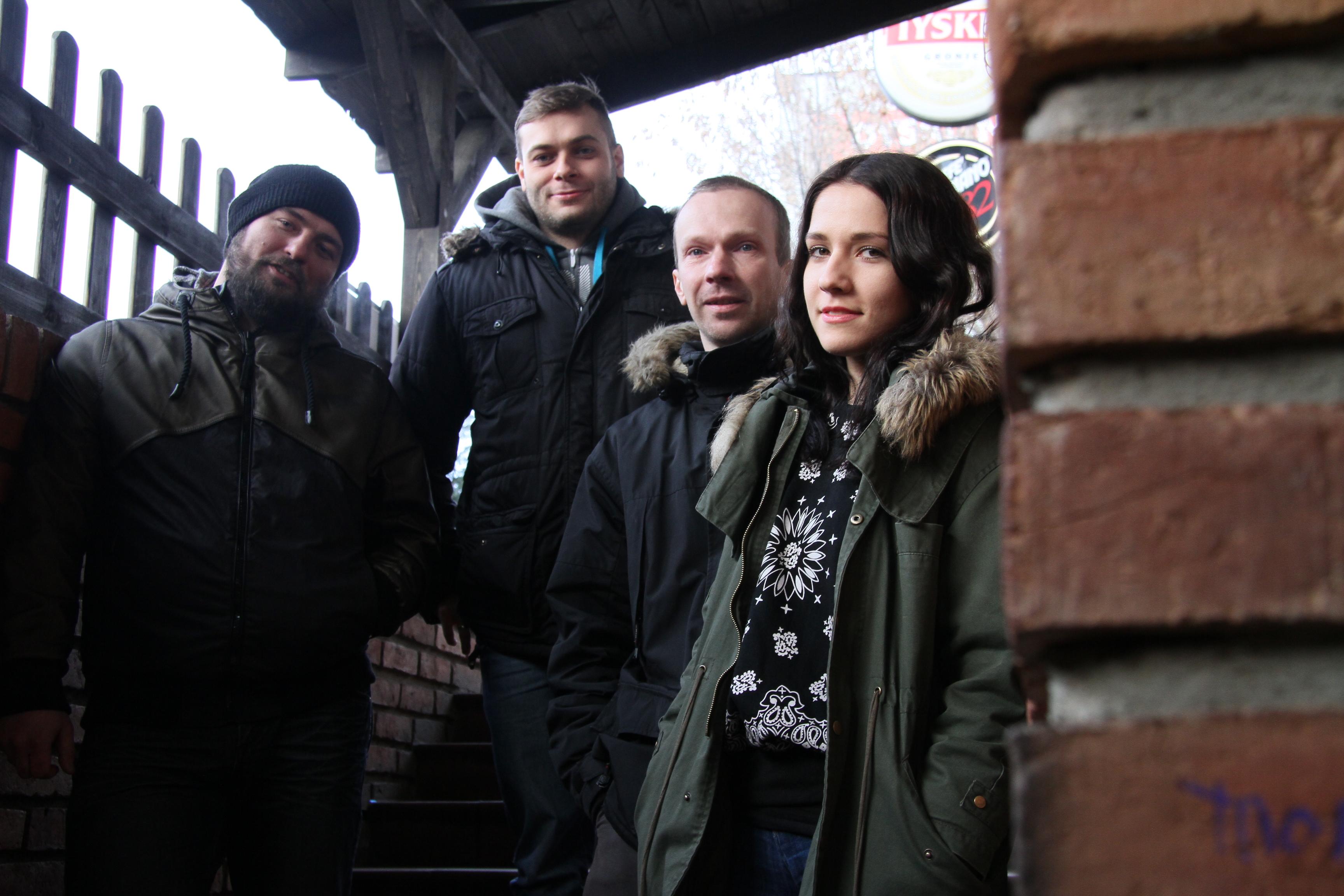 Od lewej: Kamil Butkiewicz, Sławek Rodziewicz, Dawid Skrzypczak, Patrycja Kaźmierczak