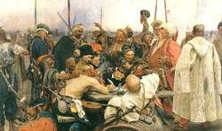 """Obraz Ilji Riepina """"Kozacy piszą list do sułtana"""""""