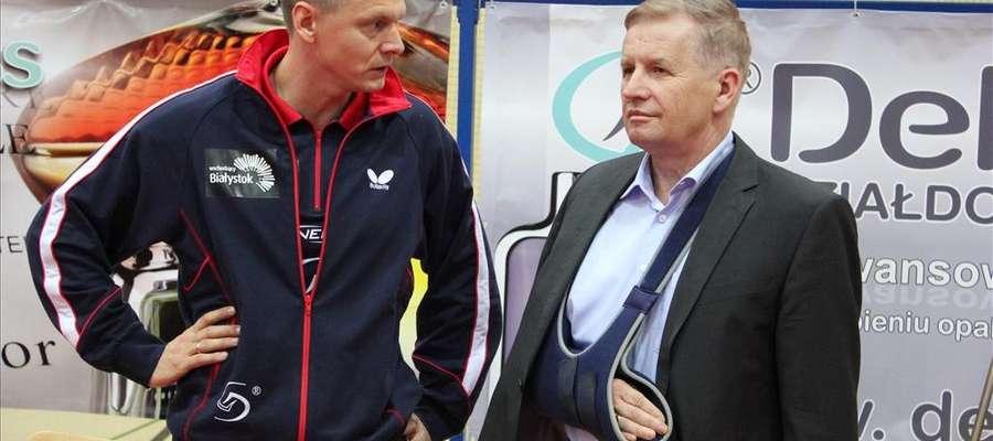 Trener Piotr Kołaciński (z lewej) i właściciel klubu Gabriel Chojak mają powody do zadowolenia