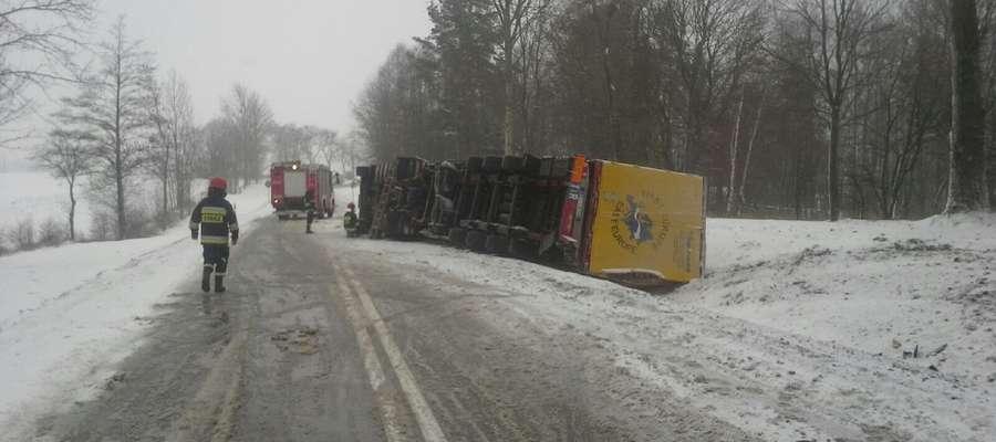 Wypadek na drodze krajowej Olecko - Ełk