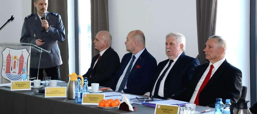 Komendant policji Artur Ryfiński przedstawił informację o stanie bezpieczeństwa Mławy