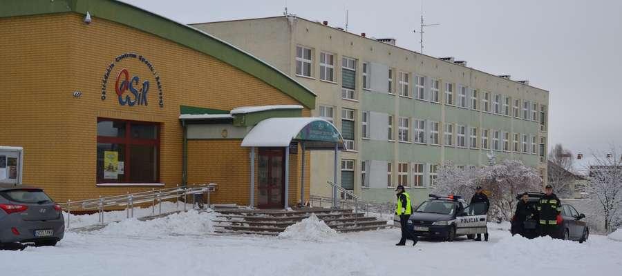 Ewakuowano uczniów i pracowników Gimnazjum nr 2 oraz zatrudnionych w Ostródzkim Centrum Sportu i Rekreacji