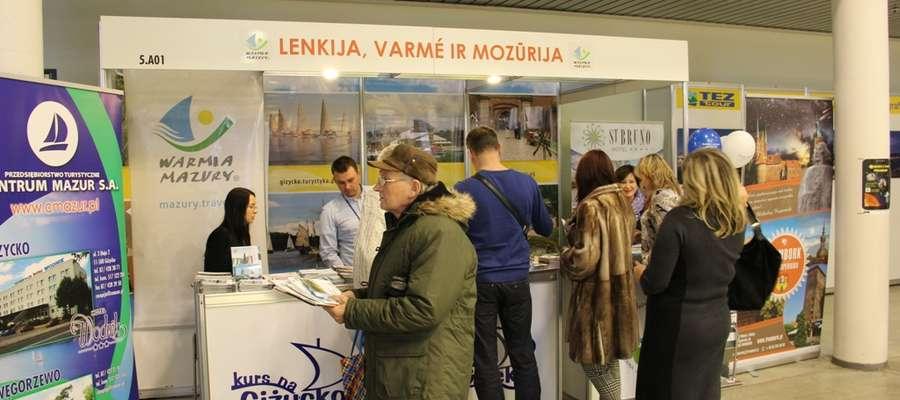 Stoisko Warmii i Mazur (prym wiodło Giżycko) na targach turystycznych w Wilnie