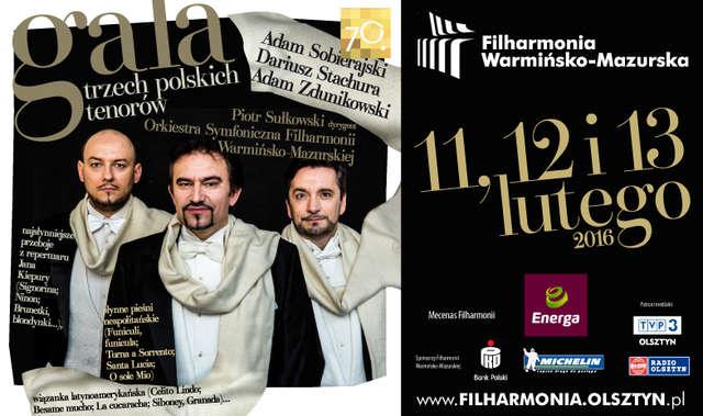 Trzy Gale trzech polskich tenorów w Filharmonii Warmińsko - Mazurskiej - full image