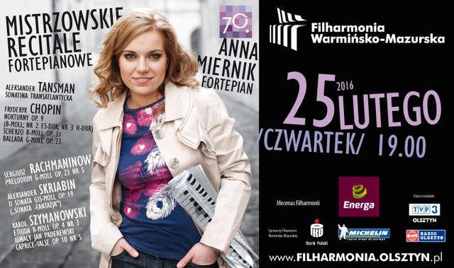 Recital Fortepianowy w wykonaniu Anny Miernik w Olsztynie - full image