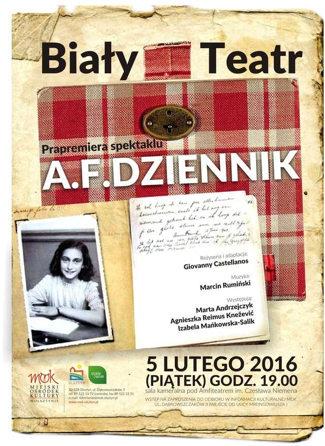 """Prapremiera spektaklu Białego Teatru  pt. """"A.F. Dziennik"""" - full image"""
