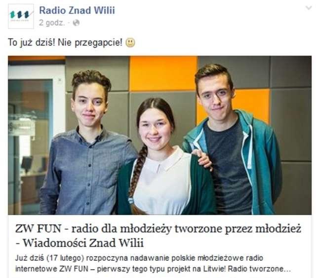 W Wilnie wystartowało polskie radio dla młodziezy - full image