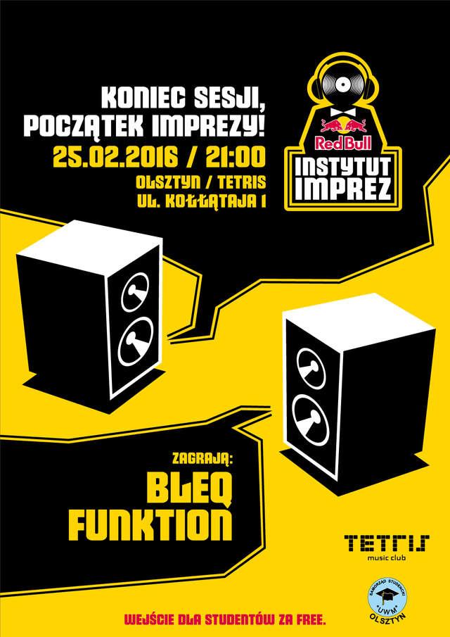 Red Bull Instytut Imprez - klub Tetris - DJ BLEQ, DJ FUNKTION - full image
