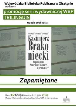 """Kazimierz Brakoniecki """"Zapamiętane"""""""