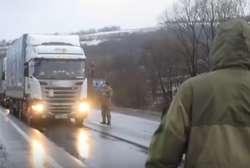 Ukraińcy blokują rosyjskie ciężarówki