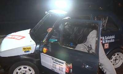 Nocny Super OES, półtora kilometra trasy i pełen przegląd aut od subaru po cinquecento