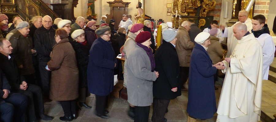 Msza święta w bazylice w Nowym Mieście Lubawskim