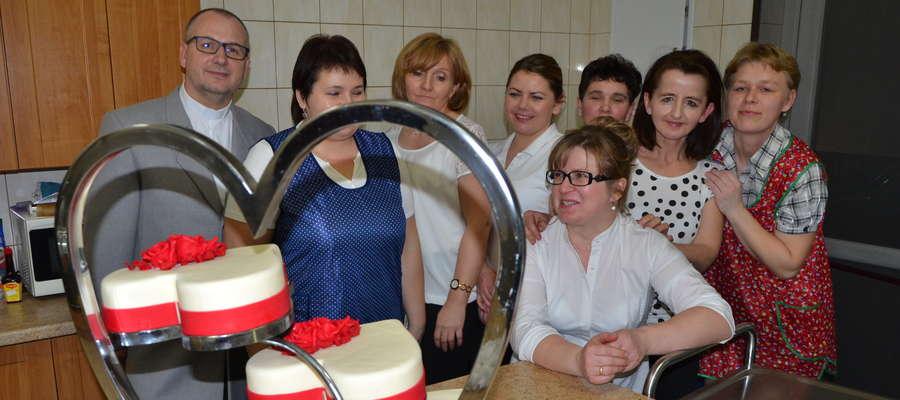 Jedną z atrakcji spotkania był walentynkowy tort
