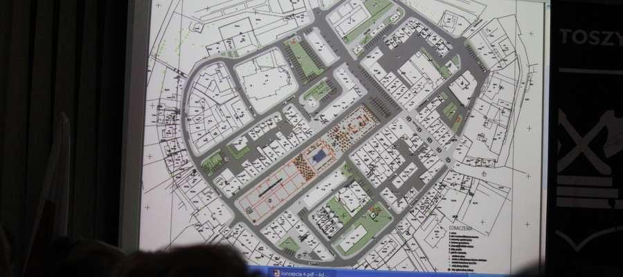 Koncepcja rewitalizacji starego miasta w Bartoszycach, którą zaprezentowano podczas ostatniej sesji