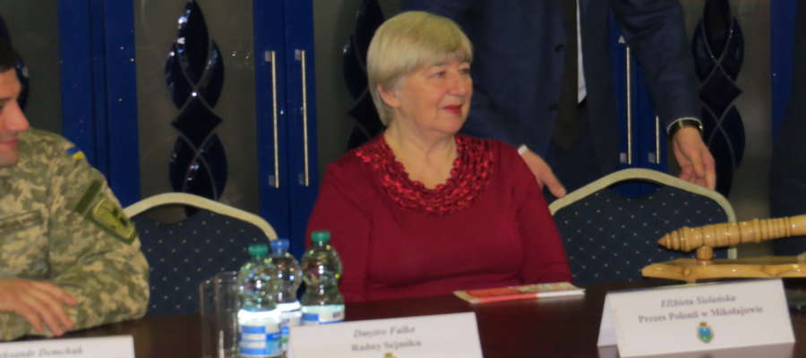 Elżbieta Sielańska, prezes stowarzyszenia Polonii nw Mikołajowie gościła w Kętrzynie razem z delegatami z Ukrainy.