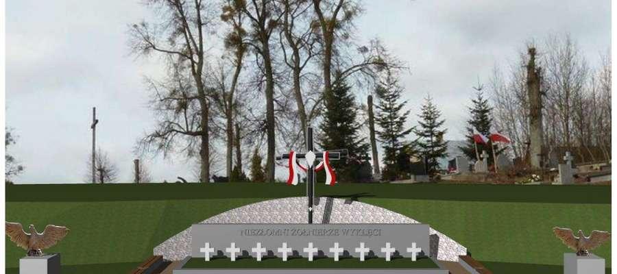 Projekt graficzny Panteonu, który ma stanąć na cmentarzu w Orłowie