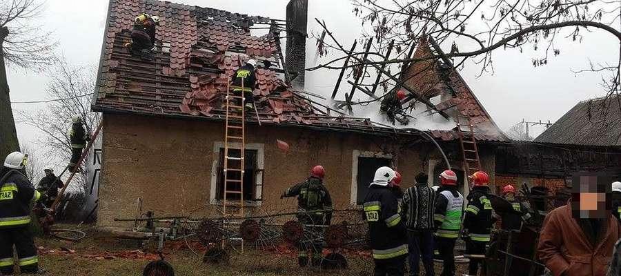Tragiczny pożar domu w Kopijkach. Zginął 80-letni mężczyzna