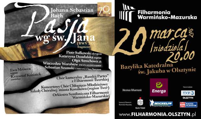 Pasja wg św. Jana w Filharmonii - full image