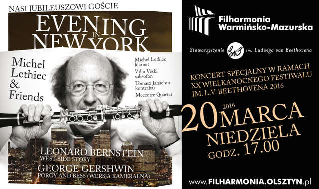 "Michel Lethiec & Friends - Nasi jubileuszowi goście w koncercie ""Evening in New York"" - full image"