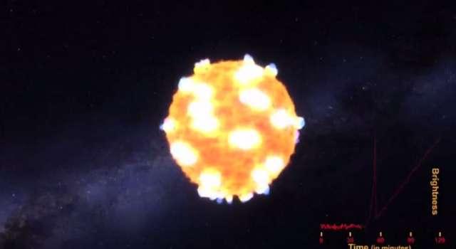 Po raz pierwszy zarejestrowano falę uderzeniową podczas wybuchu gwiazdy - full image