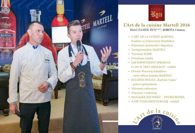 L'Art de la Cuisine Martell 2016 w Hotelu Zamek Ryn - full image