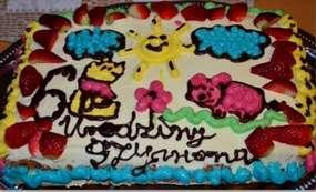Kolorowy tort na urodziny albo inne święto naszego dziecka