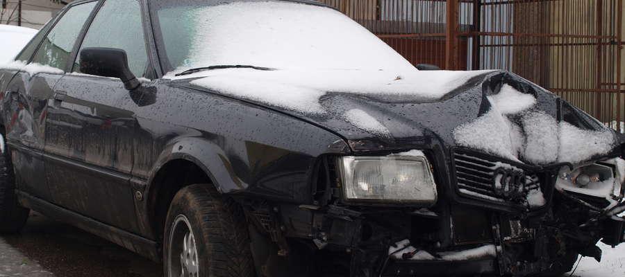Audi z wypadku w Zielonej