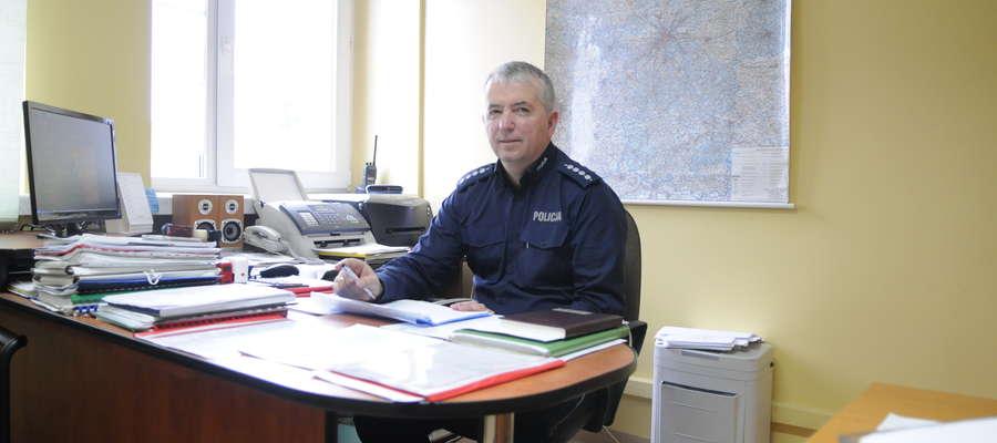 Kierownik Jan Składanowski przekonuje, że nie wolno wsiadać do samochodu po alkoholu