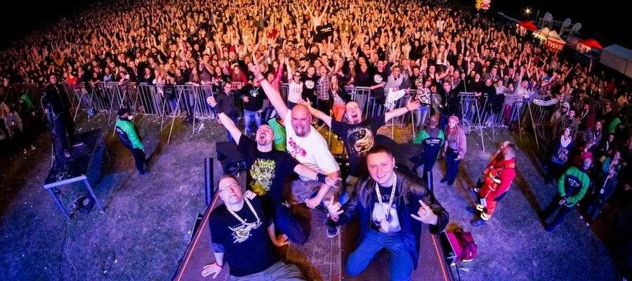 Łydka Grubasa podczas koncertu