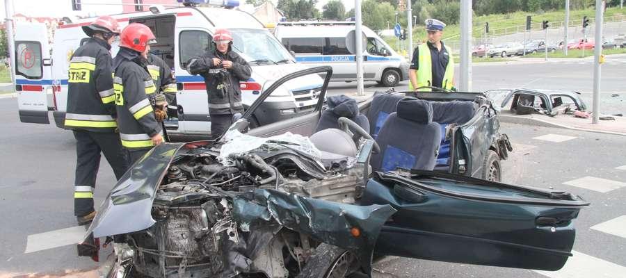 Do tego wypadku doszło w sierpniu 2012 roku na skrzyżowaniu ulicy Wilczyńskiego z al. Sikorskiego w Olsztynie