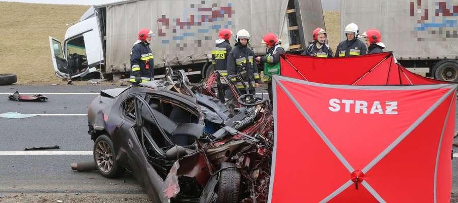 Zdjęcie z miejsca tragicznego wypadku.