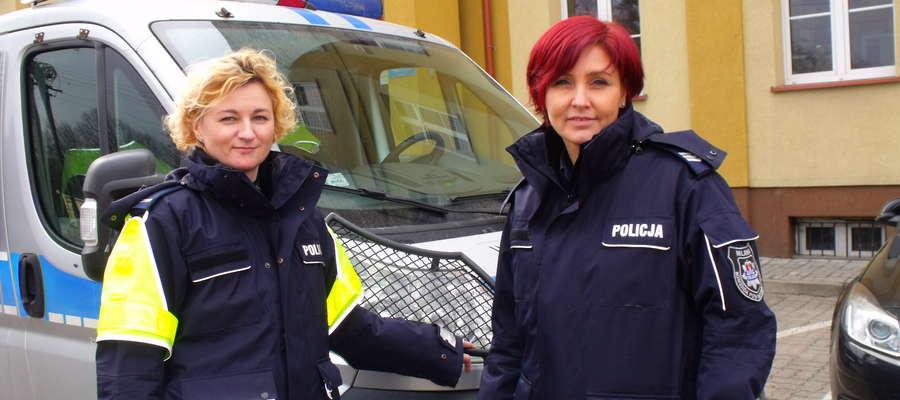St. post. Anna Cegielska i sierż. sztab. Aneta Prusik