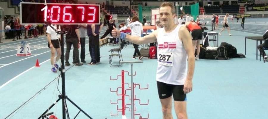 Andrzej Szysler na zawodach w Toruniu