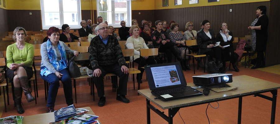 Spotkanie odbyło się w auli nowomiejskiego gimnazjum