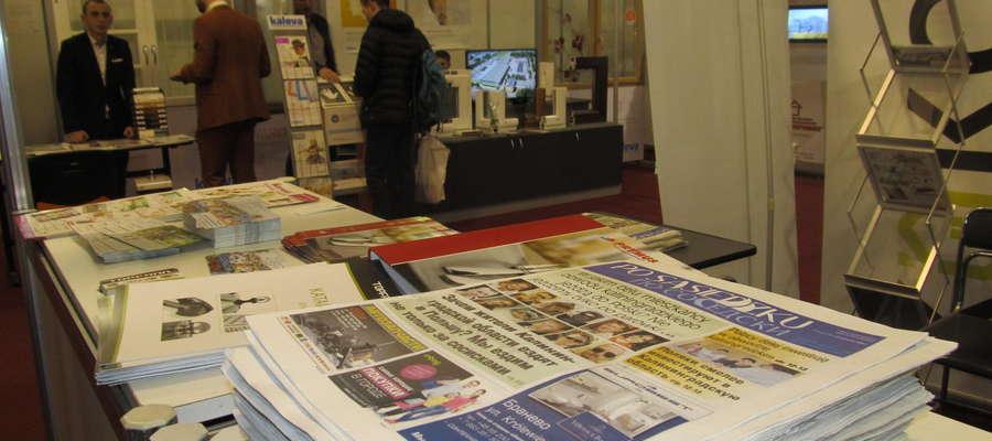 """""""Po Sąsiedzku"""" było dostępne na stoisku Wydziału Promocji i Handlu w Kaliningradzie oraz na stojakach umiejscowiony przy wejściu do centrum targowego"""