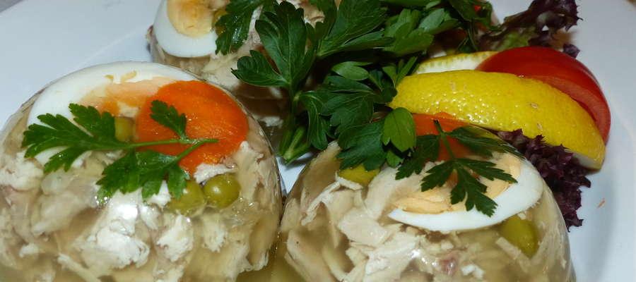 Galareta drobiowa z jajkiem