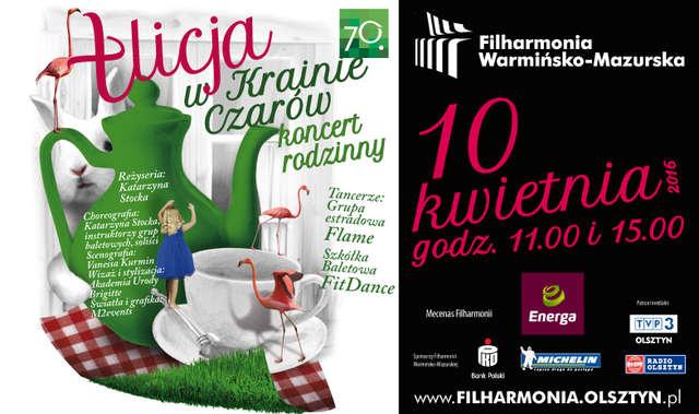 Alicja w Krainie Czarów w Filharmonii Warmińsko-Mazurskiej - full image