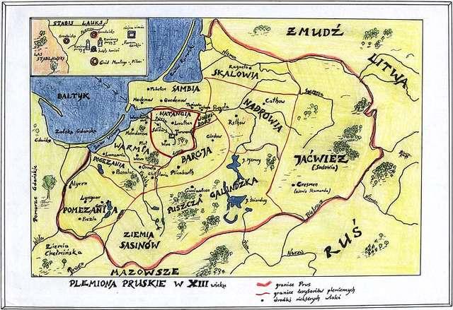 Plemiona pruskie w XIII wieku. - full image