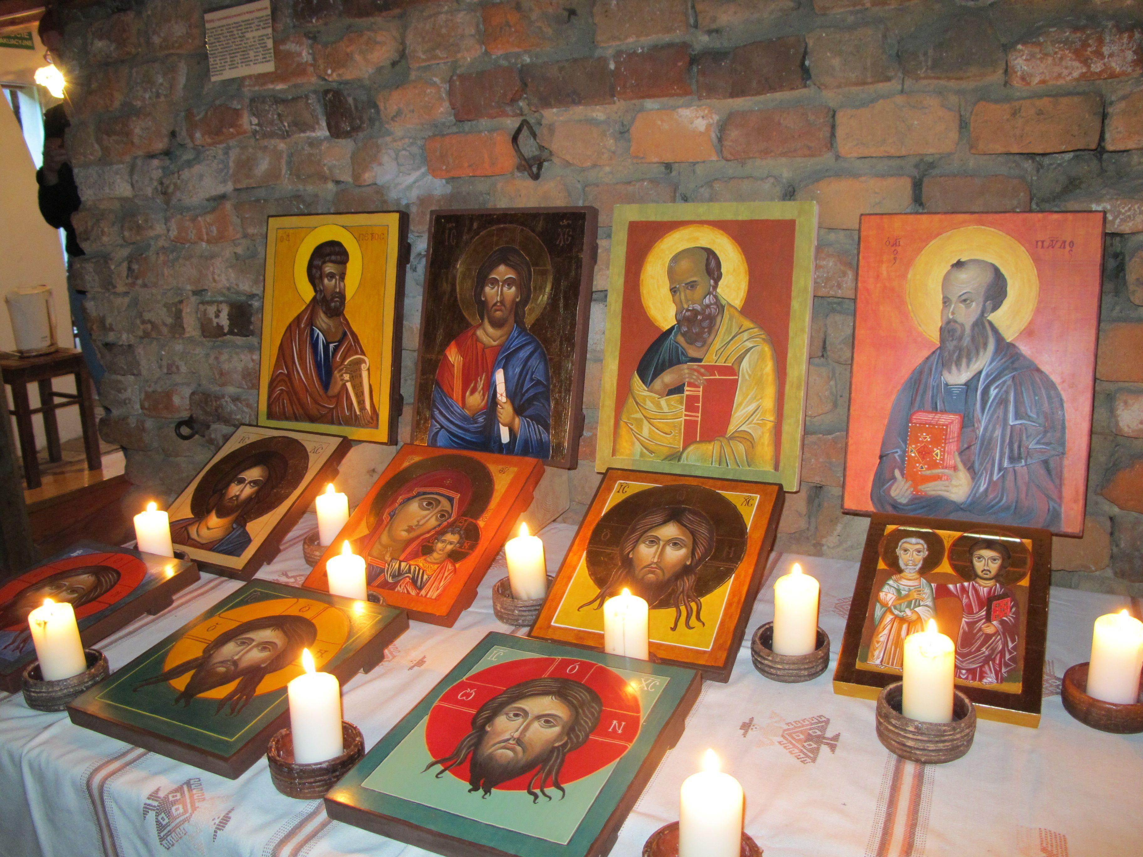 Wystawa bizantyjskich ikon w Skansenie Miejskim w Dobrym Mieście