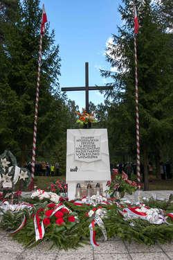 Tak obecnie wygląda pomnik w Lesie Białuckim