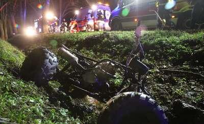 Śmiertelny wypadek quadem pod Olsztynem. Nie żyje 16-letni kierowca. Pasażer był pijany