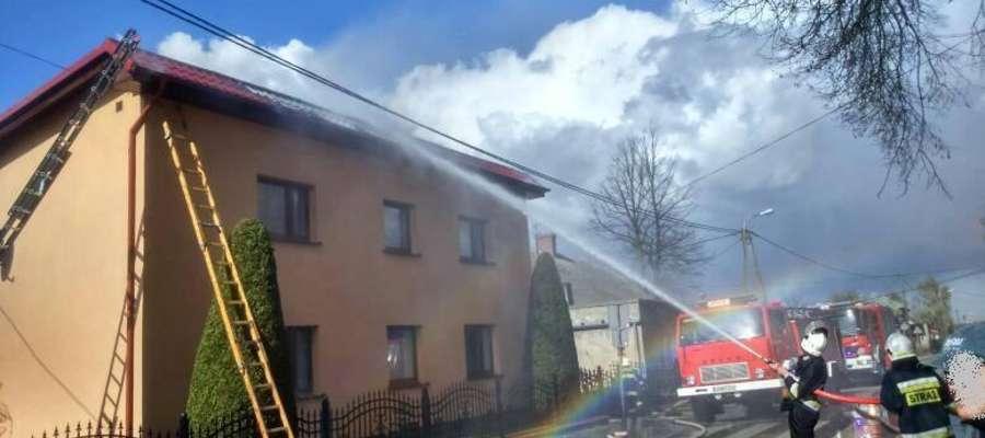 Akcja gaśnicza budynku w Lipinkach