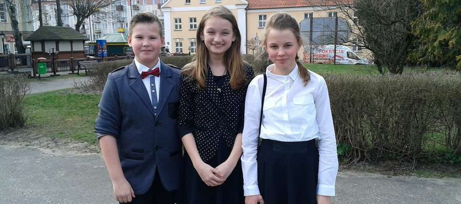 od lewej: Konrad, Ala i Madzia