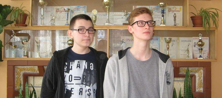 Od lewej Paweł Bukowski, Błażej Stelmarski