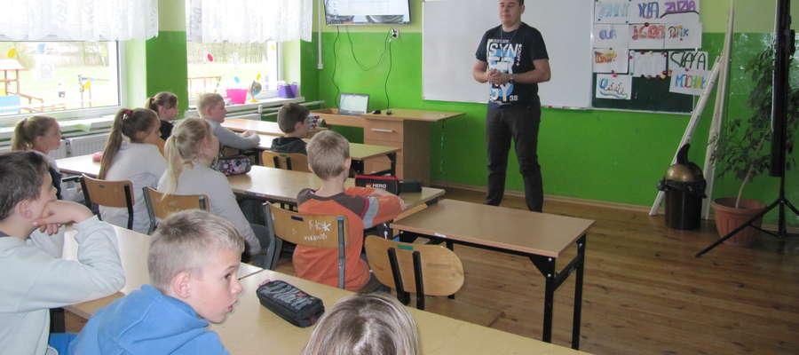 Podczas lekcji historii z pracownikiem IPN