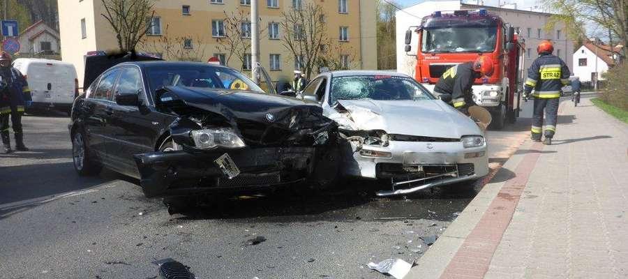 Wypadek przy ul. Mrongowiusza